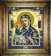 """Схема для вышивания бисером на атласе """"Иерусалимская Богородица"""" (ИС-430)"""