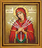 """Схема для вышивания бисером на атласе """"Семистрельная Богородица""""  (ИМ-008)"""