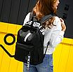 Рюкзак городской молодежный Be Your Черный с белыми лентами, фото 4
