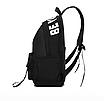 Рюкзак городской молодежный Be Your Черный с белыми лентами, фото 7