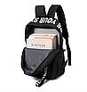 Рюкзак городской молодежный Be Your Черный с белыми лентами, фото 8