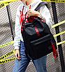 Рюкзак городской молодежный Be Your Черный с красными лентами, фото 4