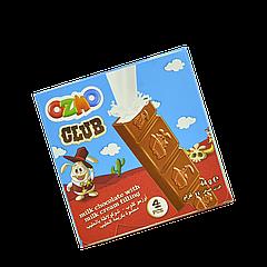 Шоколад молочный Ozmo Club с молочной начинкой 44г уп/20шт