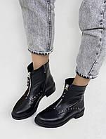 Ботиночки женские зимние черные