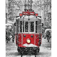 """Картина по номерам. Городской пейзаж """"Магический трамвайчик"""" 40*50см * KHO3531"""