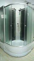 Кабина душевая 8821-F Fabrick (80х80х195) задняя стенка фабрик / стекло фабрик / поддон - 40см