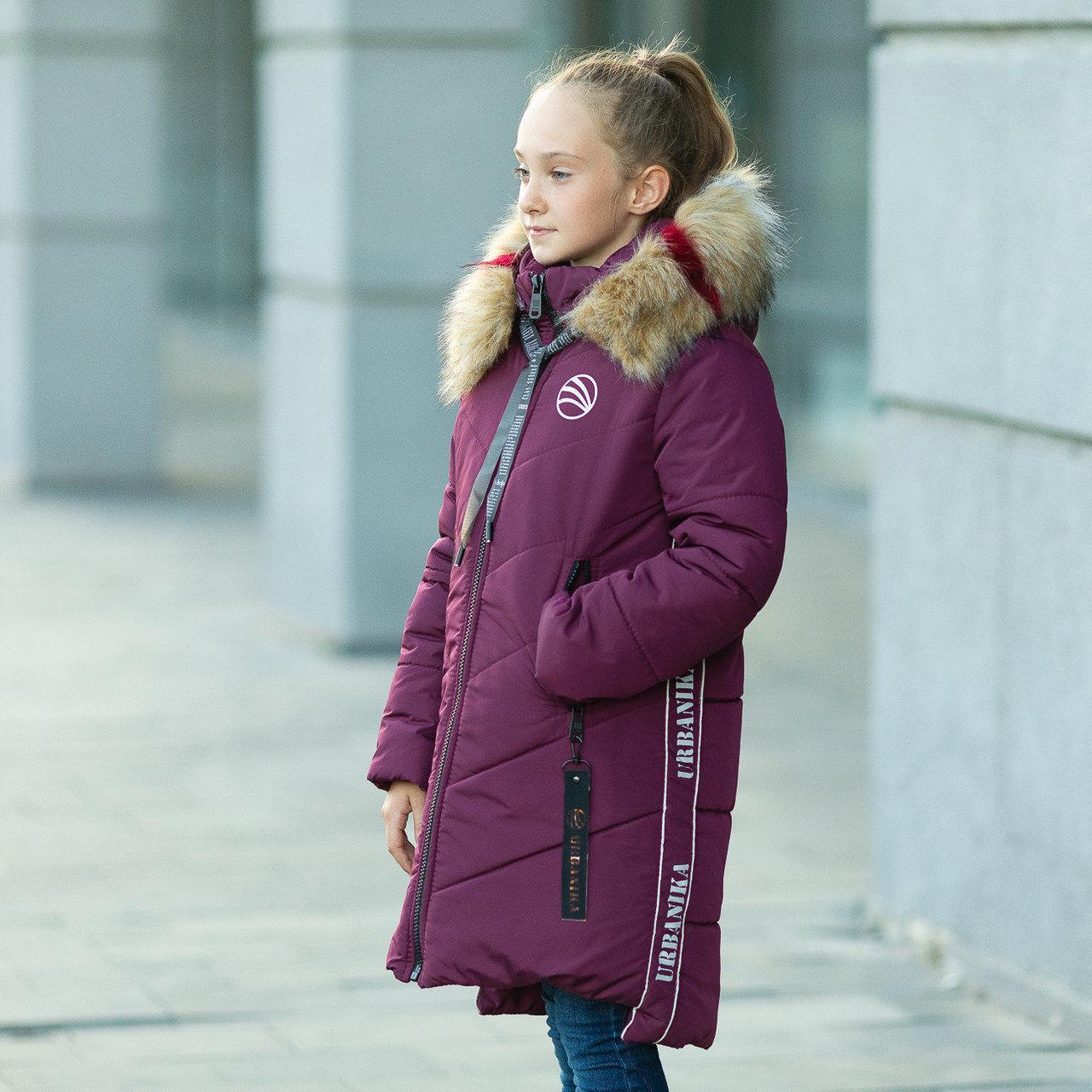 Зимняя куртка для девочки «Ангелина» , р-ры 34