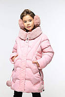 Нежно-розовый детский пуховик