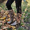 Сапоги для девочек на утолщенной подошве, цвет визон. 36 размер, фото 5