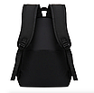 Рюкзак городской молодежный Be Your Черный с белыми лентами, фото 6