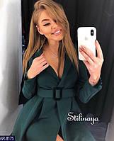 Платье женское пиджак с поясом нарядное стильное размеры 42 44 46 новинка 2019 много цветов