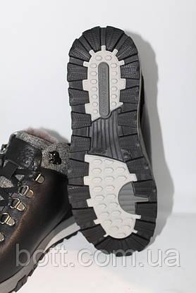 Кожаные черные зимние ботинки, фото 2