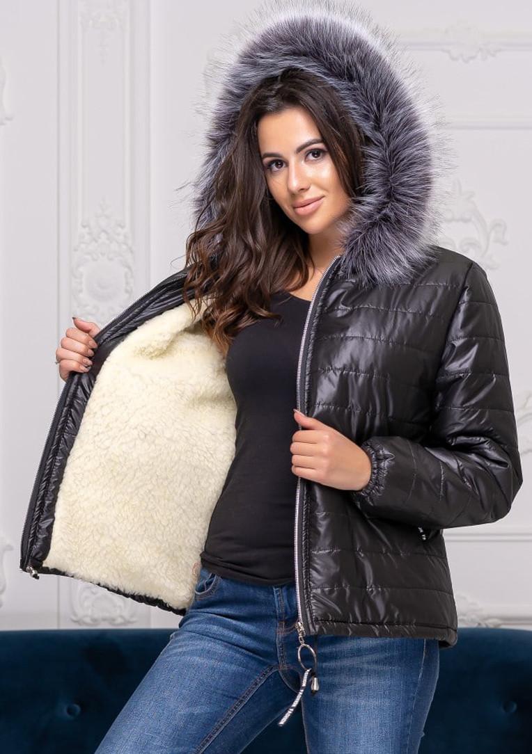 """Короткая теплая куртка большого размера """"Olsen""""  Батал"""