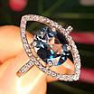 Серебряное родированное кольцо с лондон топазом, фото 3