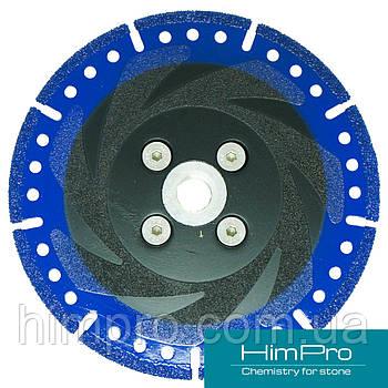 VACUUM BRAZED  BLUE с ФЛАНЦЕМ Алмазный отрезной диск для мрамора, двухсторонний на вакуумной пайке