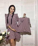 Платье в горошек мама и дочка фемили лук