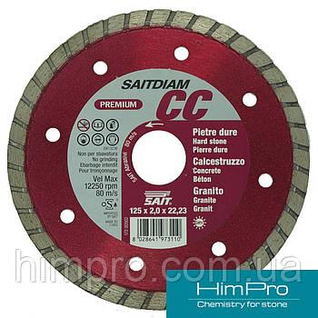 CС SAIT d125 Алмазный отрезной диск  по граниту, керамике