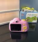Дитячий фотоапарат, Kids Camera c дисплеєм, дитяча фотокамера, Рожева, фото 6