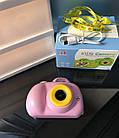 Дитячий фотоапарат, Kids Camera c дисплеєм, дитяча фотокамера, Рожева, фото 5