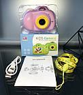 Дитячий фотоапарат, Kids Camera c дисплеєм, дитяча фотокамера, Рожева, фото 7