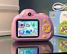 Дитячий фотоапарат, Kids Camera c дисплеєм, дитяча фотокамера, Рожева, фото 3