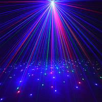 Светодиодный лазерный уличный проектор Ecolend 33-3 красные, синие и зеленые точки IP65  9W