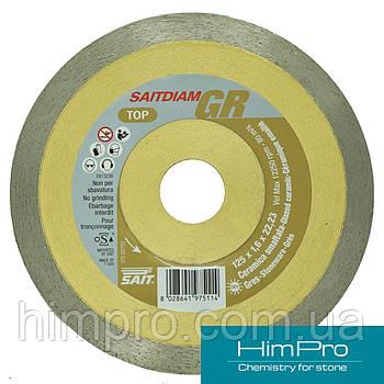 GR SAIT d125 Алмазный отрезной диск  по керамике, глазурированная керамика, грейс