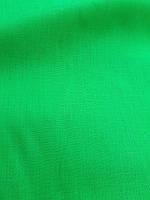 Льняная сорочечная ткань сочно - зеленого цвета