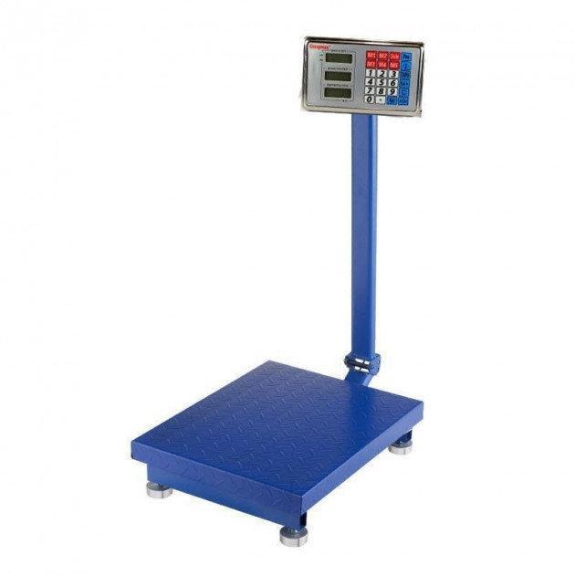 Весы торговые 300 кг электронные напольные со счетчиком цены