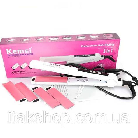 Стайлер Kemei KM-1878 3 в 1 универсальный, фото 2