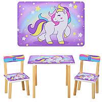 Стол детский и стулья Единороги Bambi 501-44-2