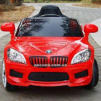 Детский электромобиль T-764 EVA RED BMW, мягкие колеса, красный