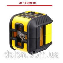 """Построитель плоскостей лазерный STANLEY STHT77502-1 """"Cross90"""", красный луч, рабочая дальность: 12 м."""