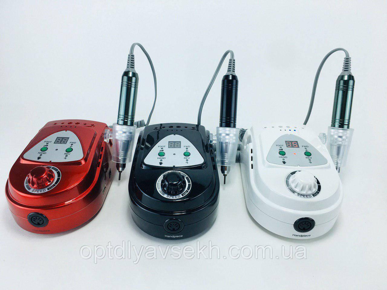 Професійний фрезер для манікюру і педикюру ZS-219 на 45 Вт-35000 об/хв.(НА АКУМУЛЯТОРІ)+ ручка і педаль