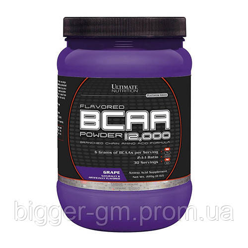 Ultimate Nutrition BCAA powder 12000 - 228 г - арбуз, фото 1