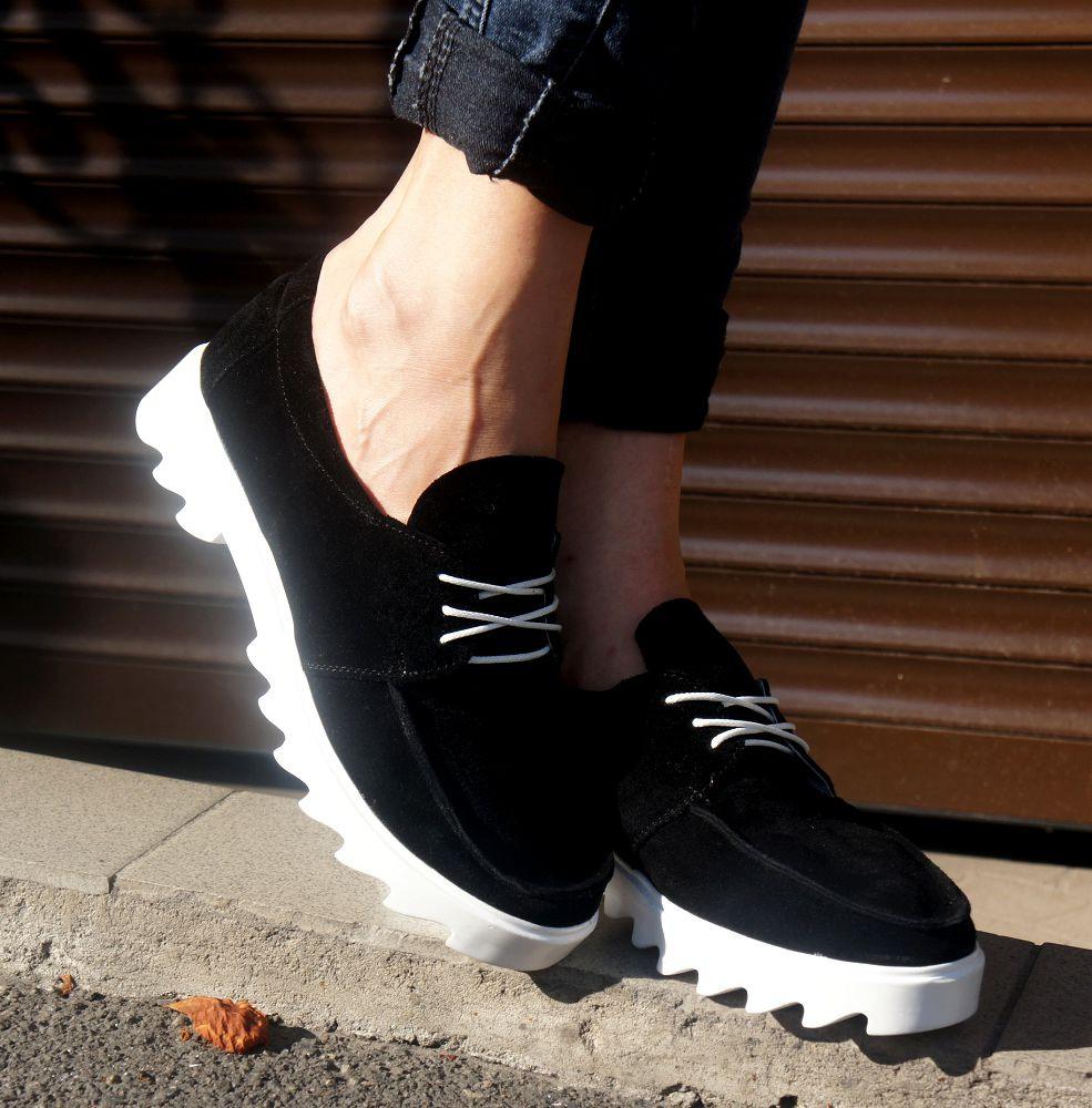 Туфли на низком ходу черный (О-662)