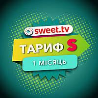 """Подписка SWEET TV ТАРИФ """"S"""" 154 ТВ канала 3000 фильмов - 1 мес"""