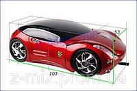 Компьютерная мышка-автомобиль FERRARI красный цвет