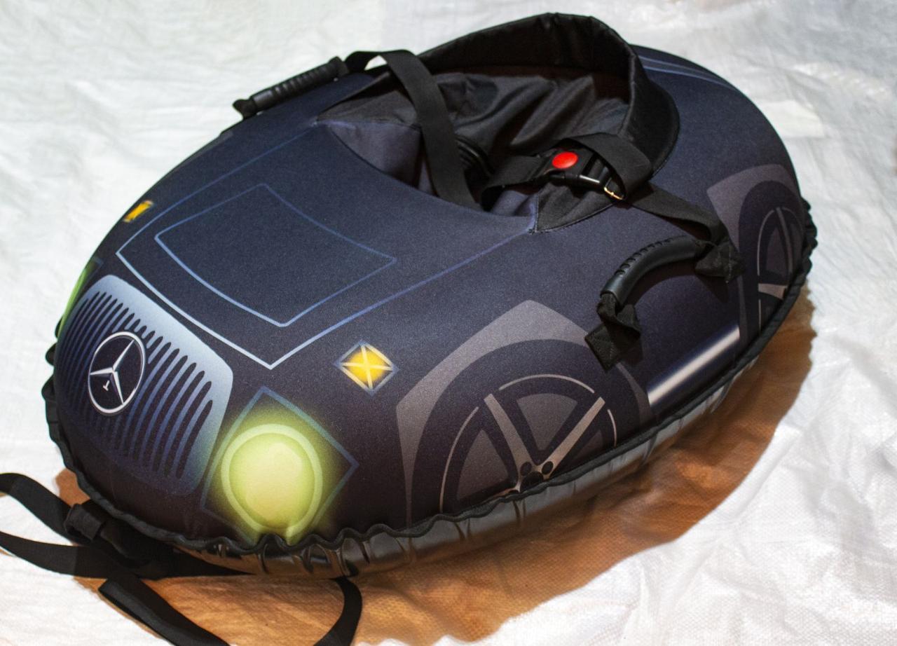 Тюбинг детский Машинка Мерседес, 106х86, до 150 кг, съемный чехол