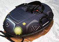 Тюбинг детский Машинка Мерседес, 106х86, до 150 кг, съемный чехол, фото 1