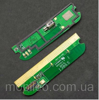 Плата нижняя (плата зарядки) Lenovo A390 с разъемом зарядки и компонентами