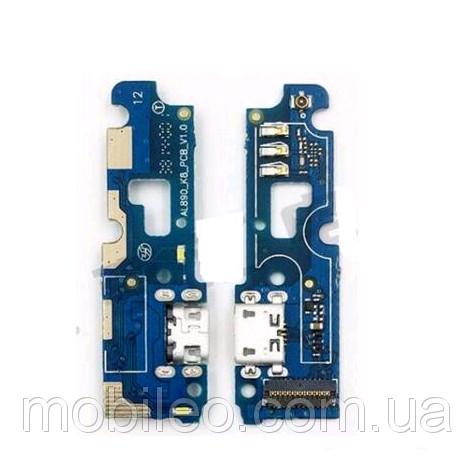 Плата нижняя (плата зарядки) Lenovo P70 с разъемом зарядки и компонентами