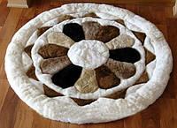 Круглые ковры из меха ламы на заказ в Киеве, фото 1