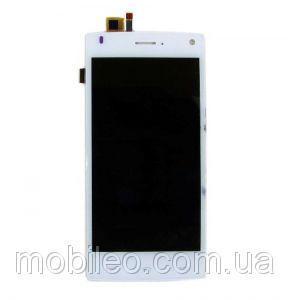 Дисплей (LCD) Fly FS452 Nimbus 2 с тачскрином, белый оригинал (PRC)