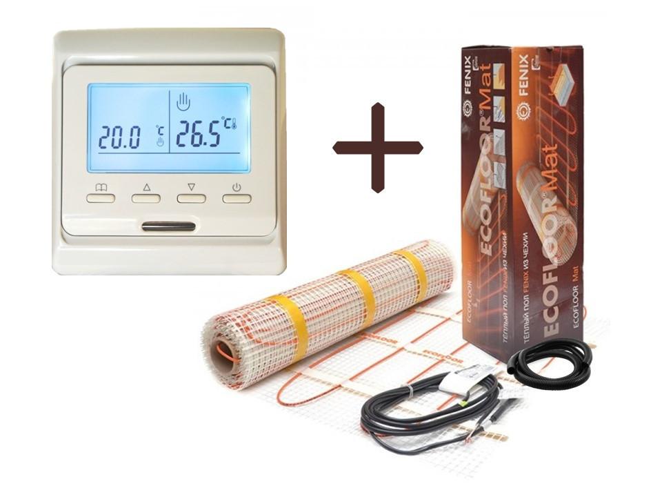 Нагревательный мат Fenix LDTS 12810 обогрев (5.1 м2) с Программируемым терморегулятором (Премиум)