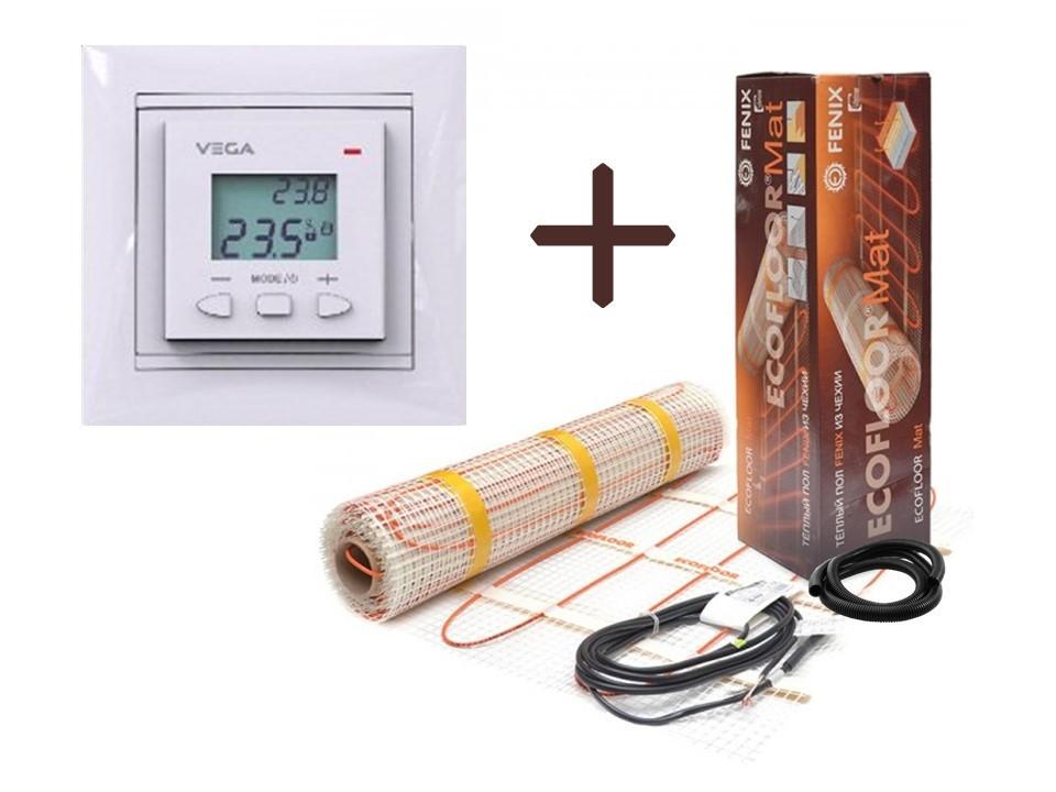 Нагревательный мат Fenix LDTS обогрев (1.3 м2) с Программируемым терморегулятором VEGA LTC 070 (Премиум)