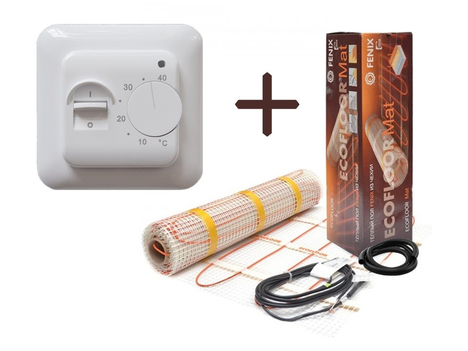 Нагревательный мат Fenix LDTS обогрев ( 2.6 м2) с  терморегулятором в комплекте (KIT1106)(Премиум)
