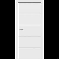 Фарбовані двері модель F-3. Полотно, зрощений брус сосни