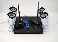 Беспроводная система видеонаблюдения / Готовый комплект - 4 Wi-Fi камеры и ресивер