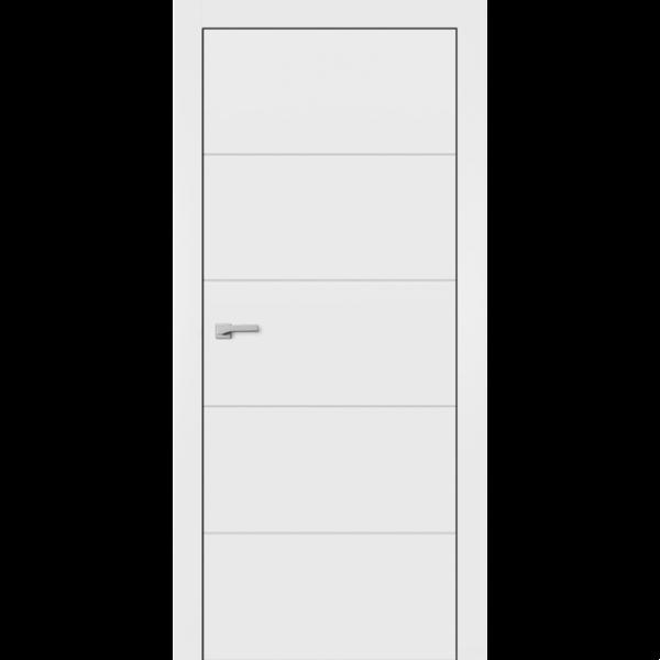 Крашенные двери модель F-3. Полотно+коробка+1к-т наличников, срощенный брус сосны